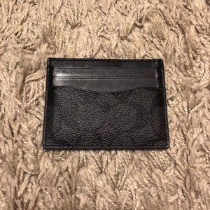 Coach logo ID card holder wallet
